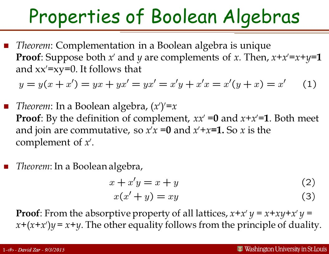 scribe addition and boolean algebra