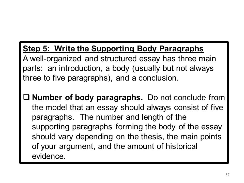 three step essay model Examples of selected response test items because they require students to  3  what are the 3 basic steps of photosynthesis improved essay question: 4.
