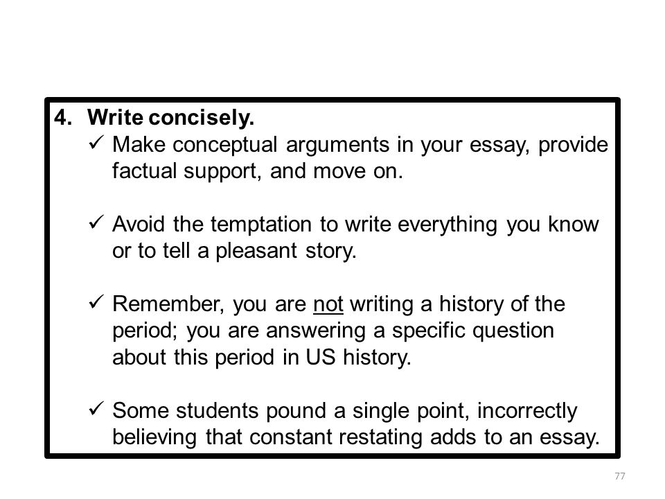 writing the leq ppt  make conceptual arguments in your essay provide factual support and move