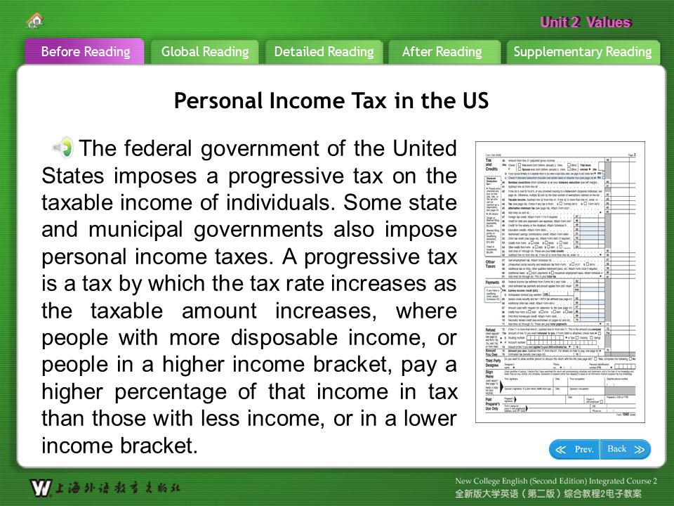the need for the federal progressive income tax in united states Federal government is more powerful than state government states during the progressive era introduced states need to keep federal power.