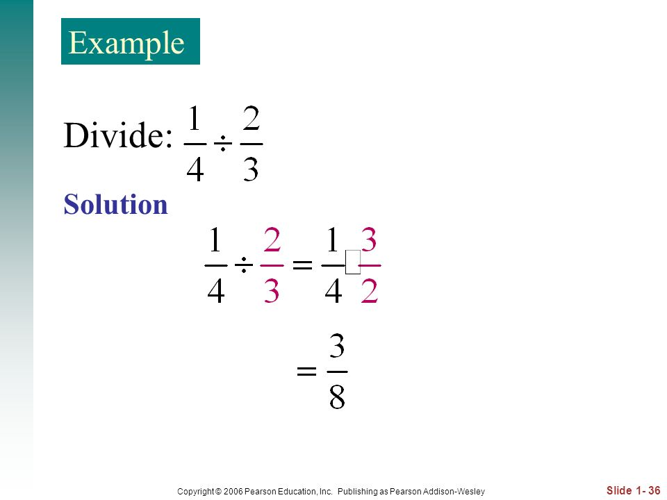 Divide: Example Solution