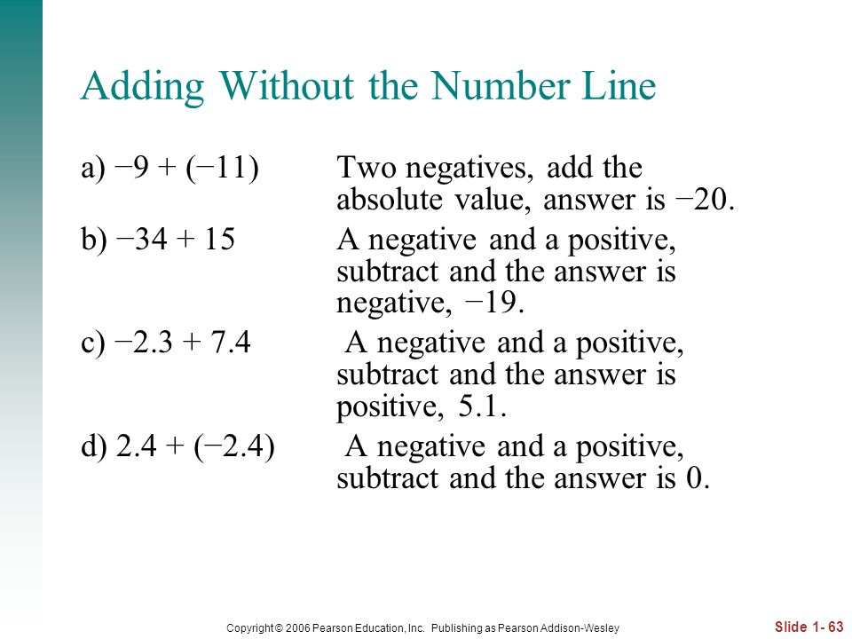 Adding Without the Number Line