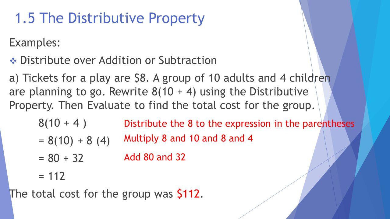 Algebra 2 distributive property worksheets