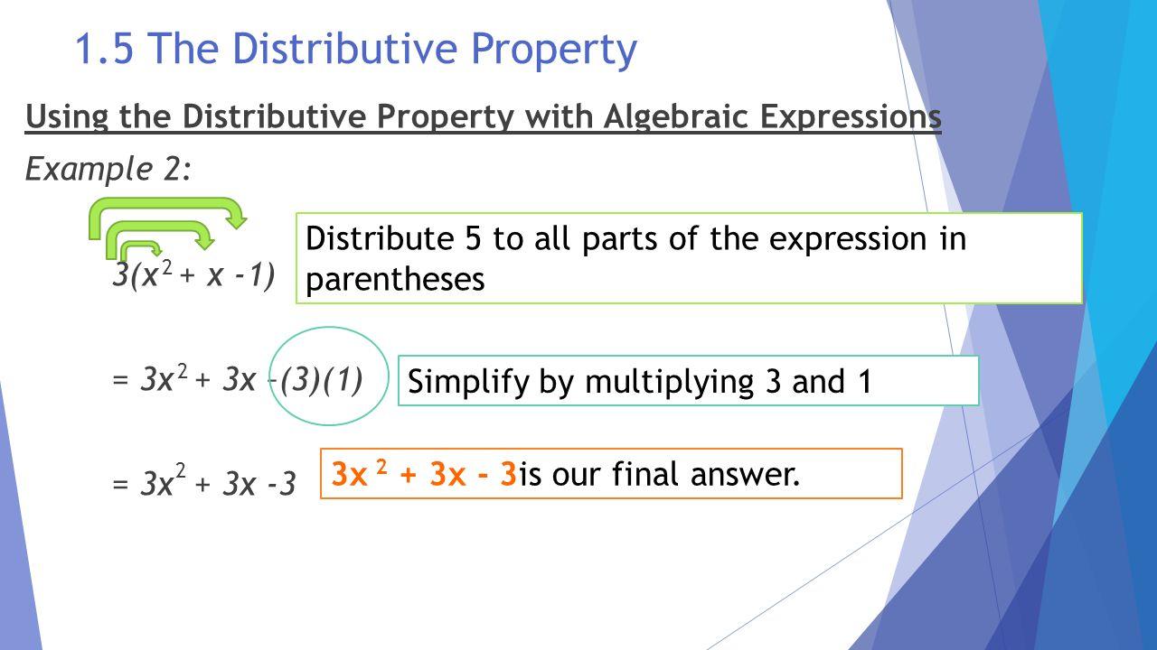 worksheet Algebra 1 Worksheet 1.5 Translating Expressions the language and tools of algebra ppt download 61 1 5 distributive property