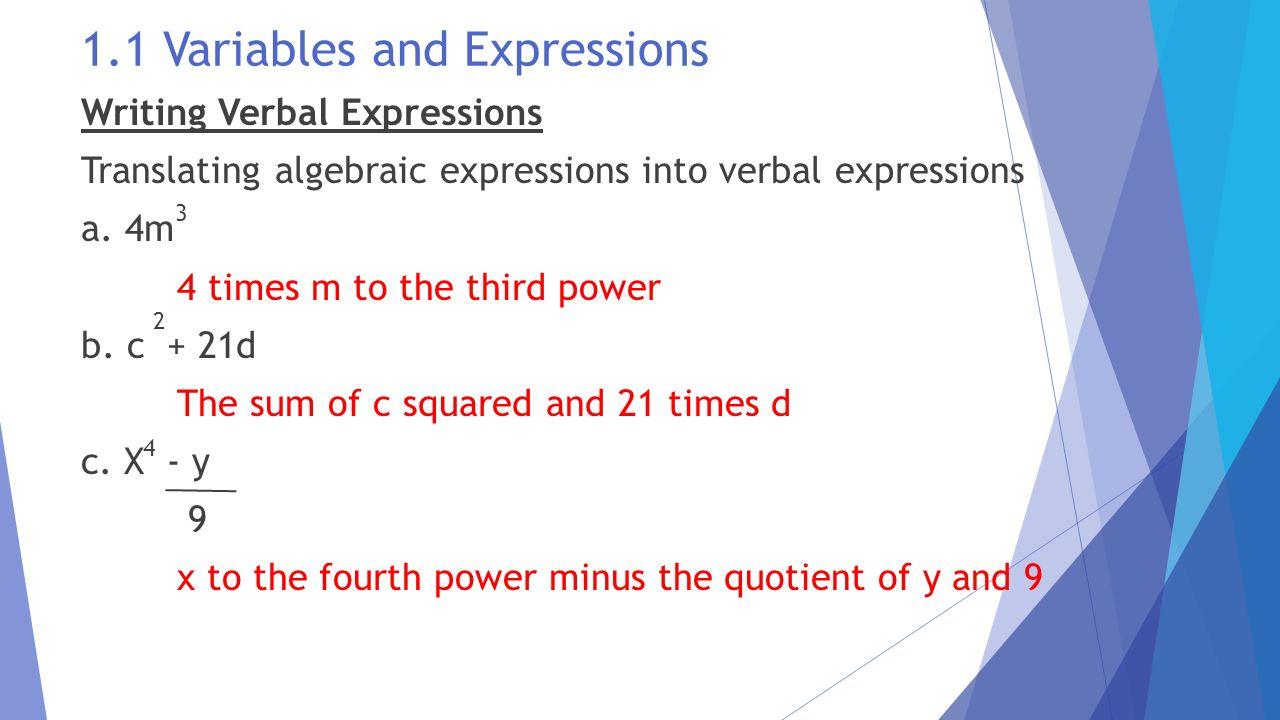 worksheet Algebra 1 Worksheet 1.5 Translating Expressions the language and tools of algebra ppt download 1 variables expressions