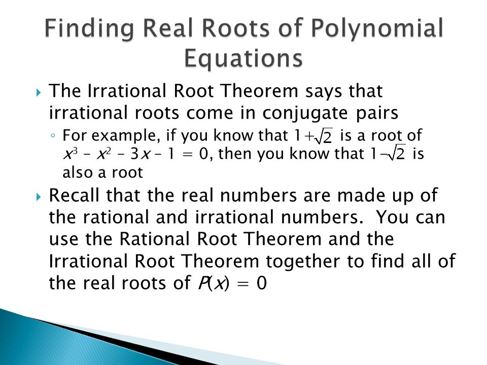 what are the real roots of following polynomial equation tessshebaylo. Black Bedroom Furniture Sets. Home Design Ideas