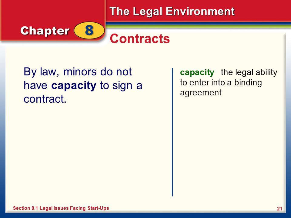 minors capacity to contract essay A question of capacity: towards a  make a simple contract to purchase a car furthermore, in the 2004 term, the supreme court held that minors, as a category,.