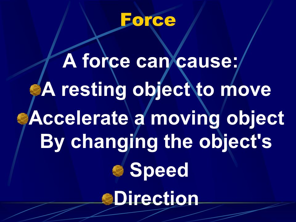 A resting object to move