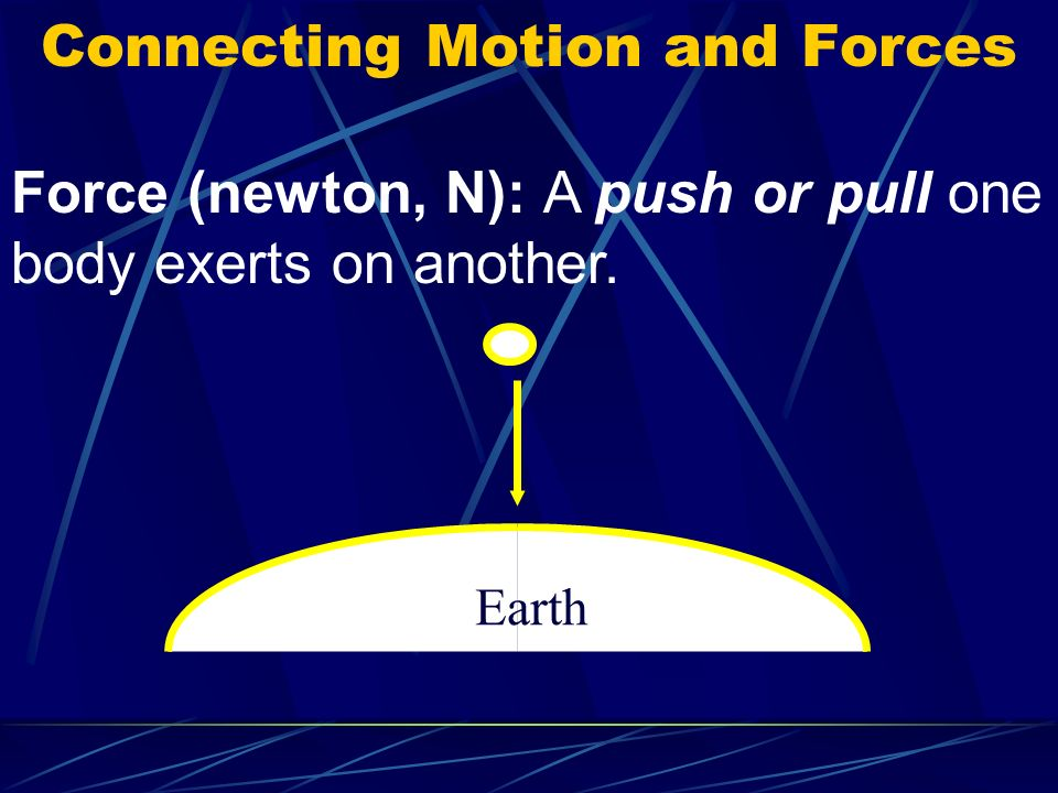 Connecting Motion and Forces