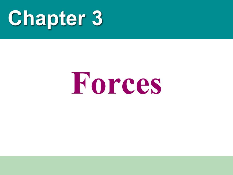 Chapter 3 Forces