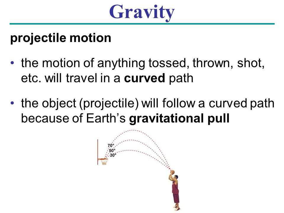 Gravity projectile motion