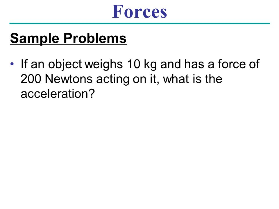 Forces Sample Problems
