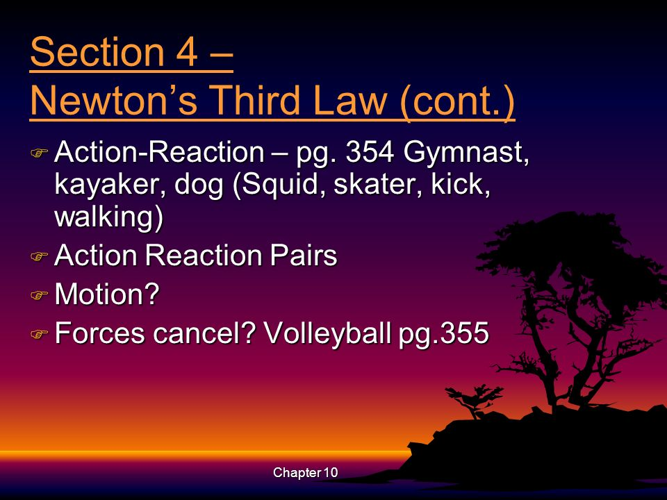 Section 4 – Newton's Third Law (cont.)