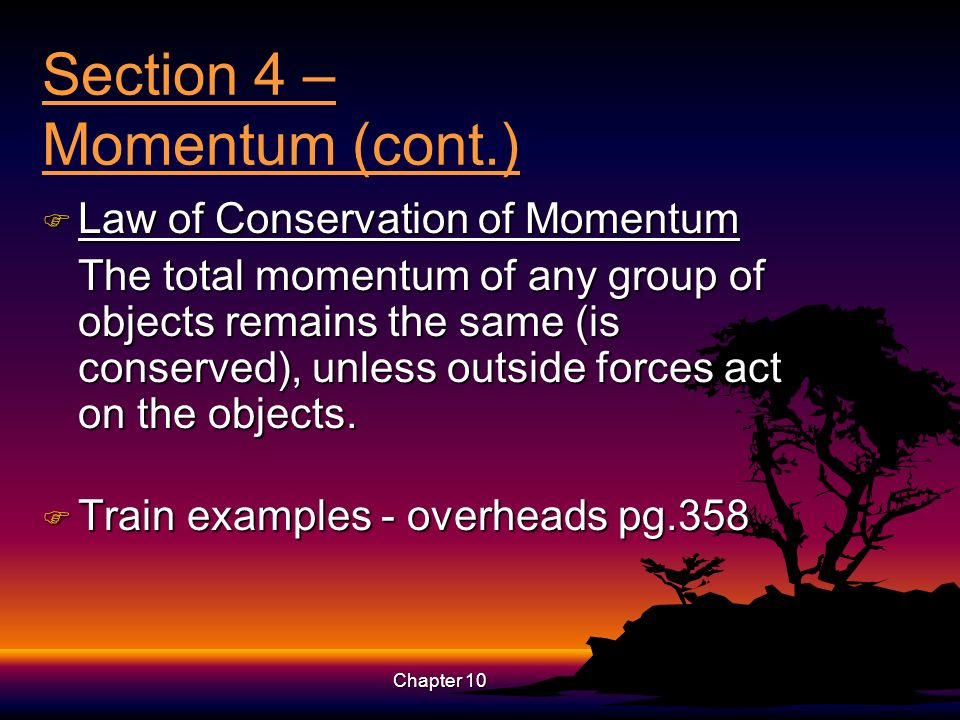Section 4 – Momentum (cont.)