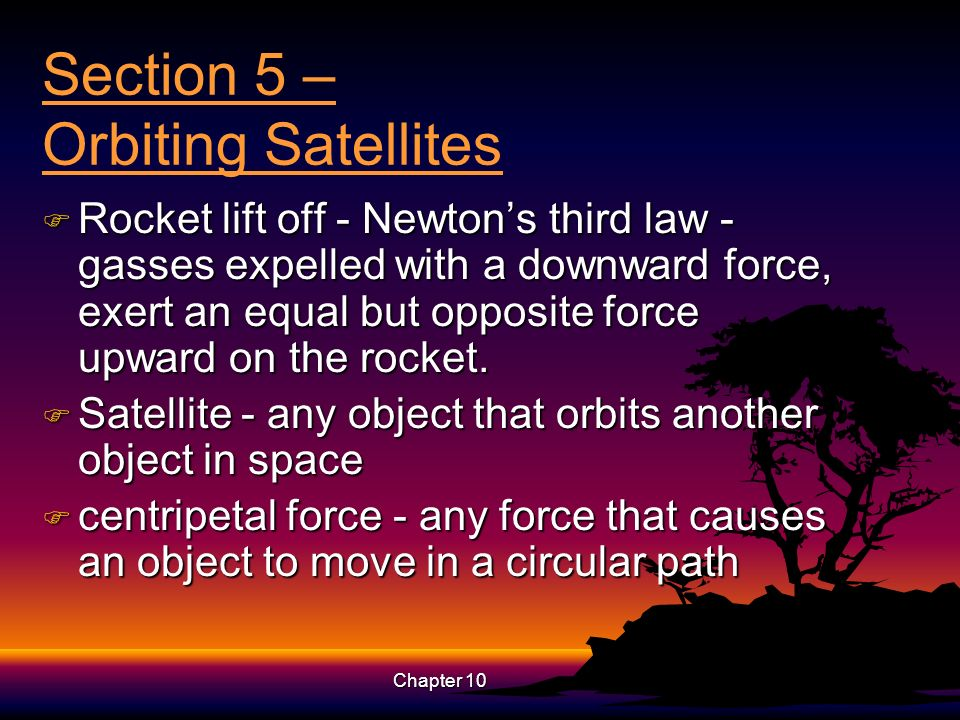 Section 5 – Orbiting Satellites
