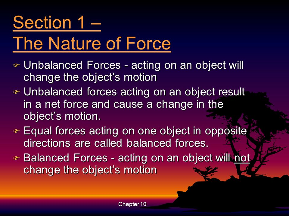 Section 1 – The Nature of Force
