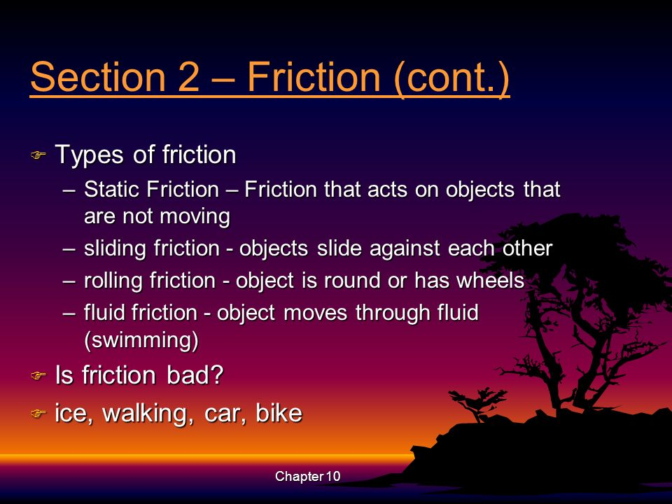 Section 2 – Friction (cont.)