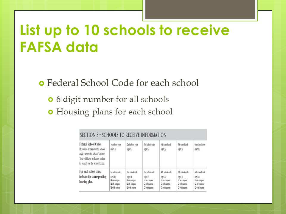 online schools that accept fafsa You can use the federal school code search to search for colleges you're interested in including on your fafsa you can also find detailed college information, like.