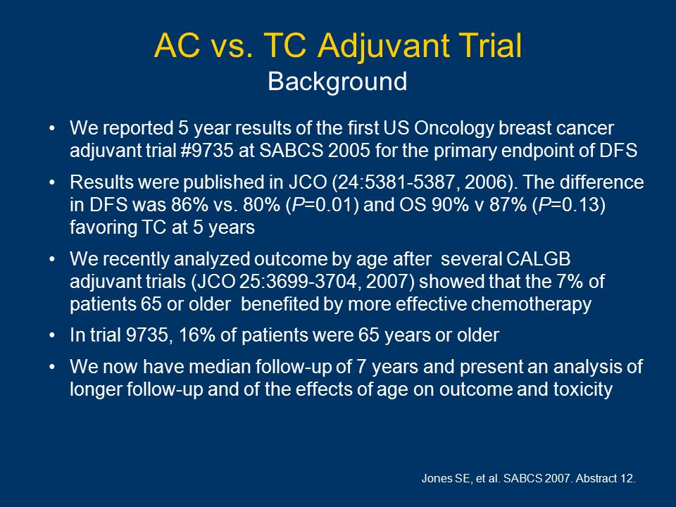 Tc treatment for breast cancer
