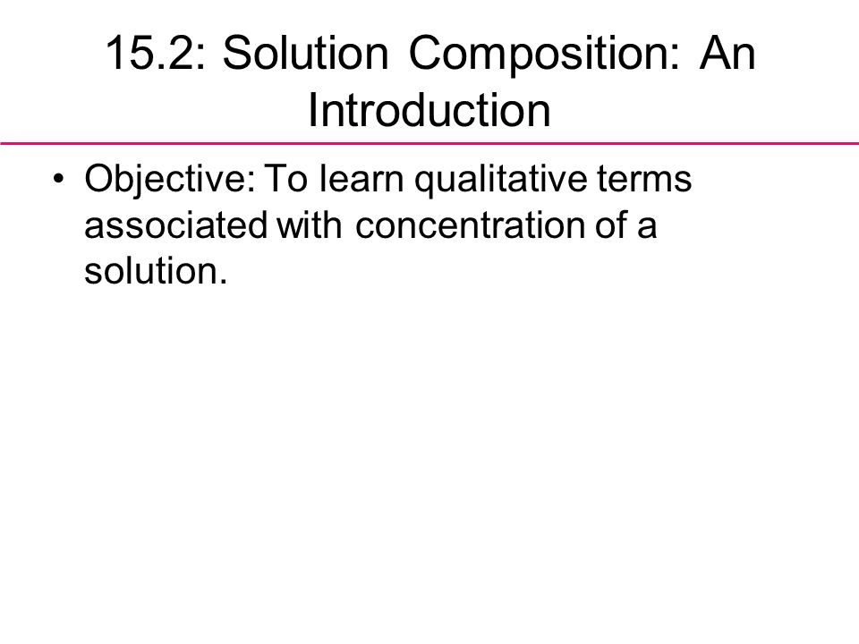 15.2: Solution Composition: An Introduction