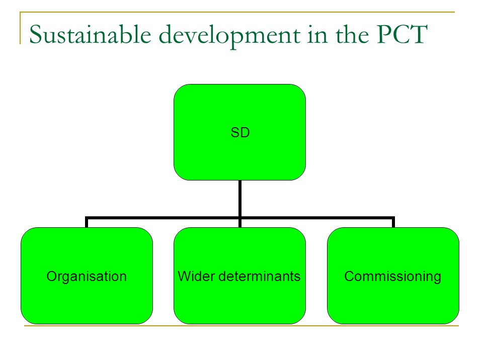 Sustainable development in the PCT