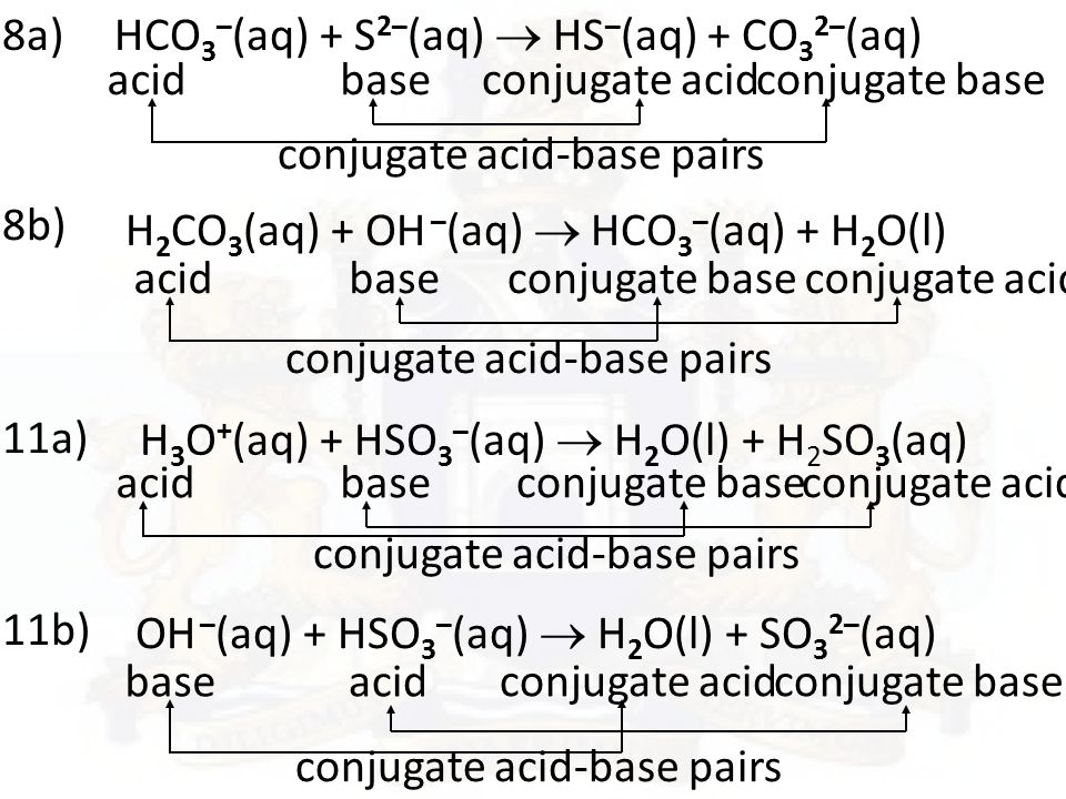 Acids and Bases ppt download – Conjugate Acid Base Pairs Worksheet