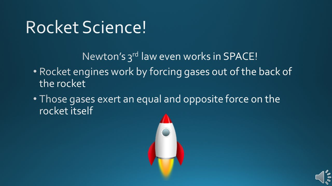 Newton's 3rd law even works in SPACE!