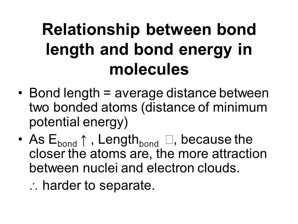 relationship between chemical bonding and potential energy