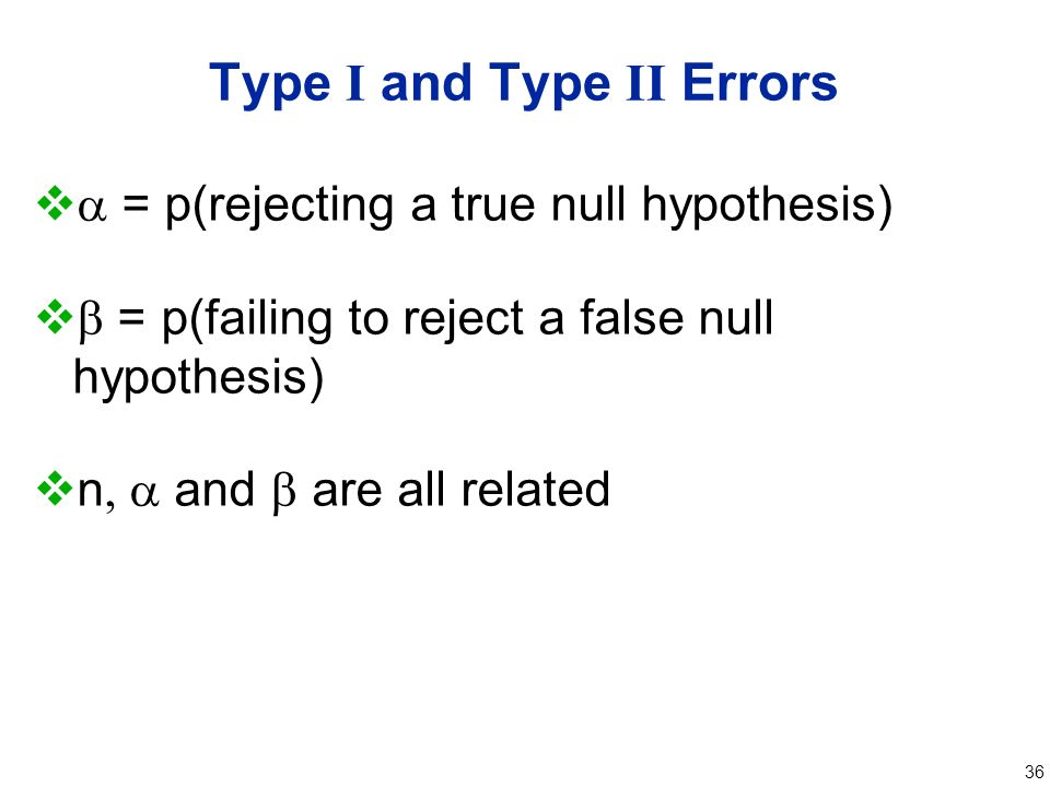 type i error and ii relationship problems