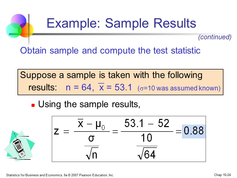 Example: Sample Results