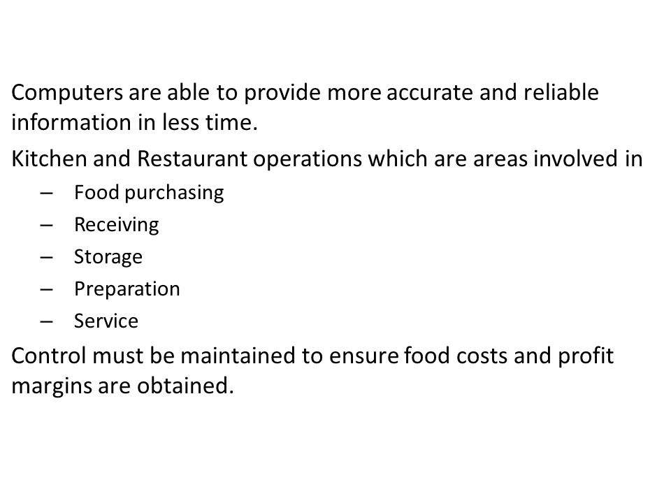 Plain Restaurant Kitchen Operations Cost Control Measures Begin