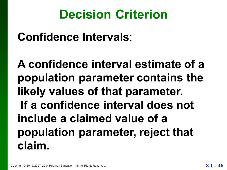 Decision Criterion Confidence Intervals: