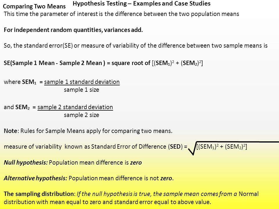 hypothesis testing case study Business applications of hypothesis testing in this case the basic hypotheses might be: h 0: business applications of hypothesis testing related study materials.