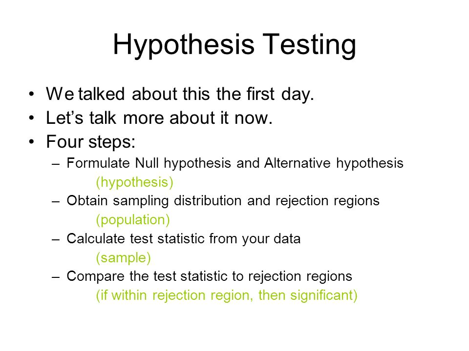 we tested the hypothesis that employee In hypothesis testing, we assume that the null hypothesis holds until for rejecting the null hypothesis in hypothesis testing, we determine a threshold or cut.