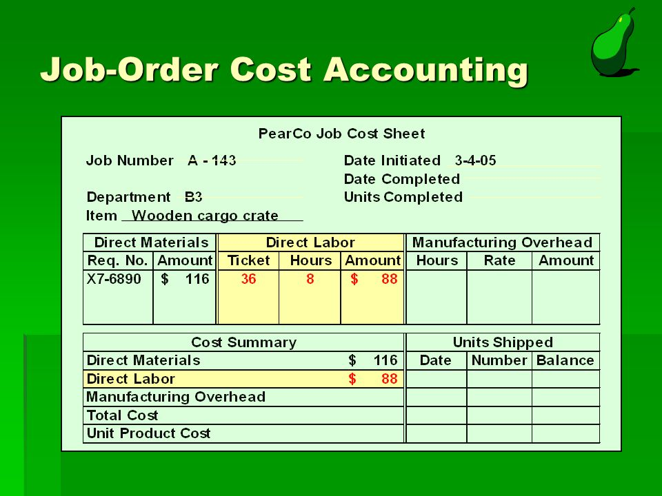 job order cost sheet. Black Bedroom Furniture Sets. Home Design Ideas