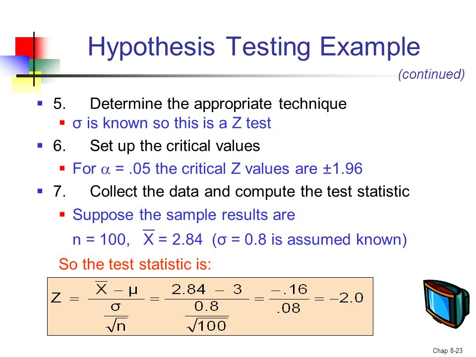 13 Steps Used in a Hypothesis Test