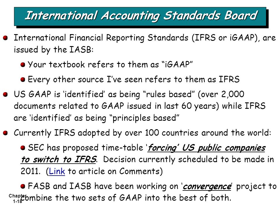 financial accounting project on accounting standards Intermediate accounting ch1 financial accounting standards issued by fasb are part of the conceptual framework project of the fasb that sets forth.