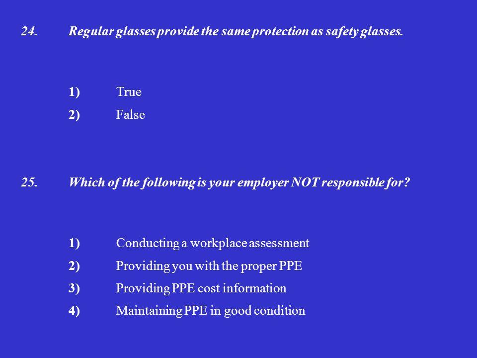 Employer Providing Glasses