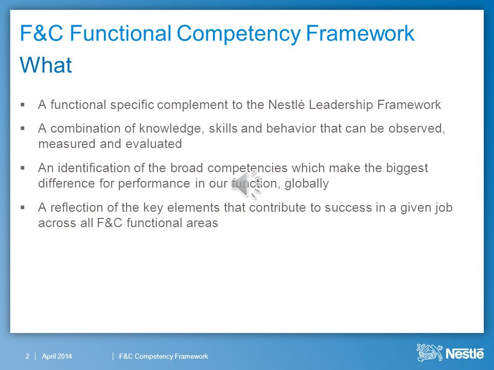Competencies and functional strategies