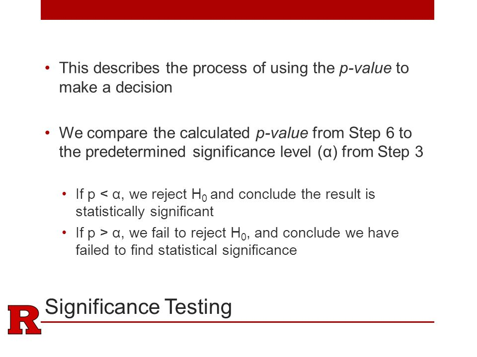 how to find statistical significance without p value