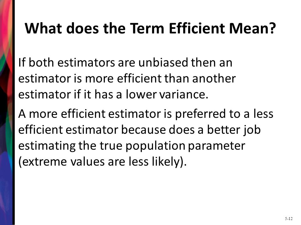 What does the Term Efficient Mean