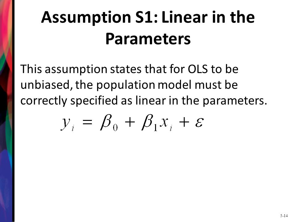 Assumption S1: Linear in the Parameters