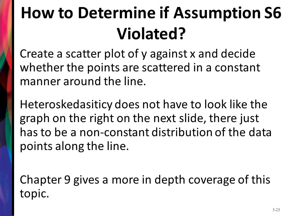How to Determine if Assumption S6 Violated