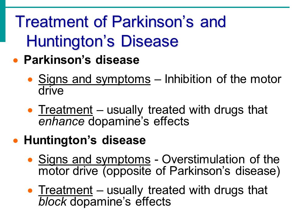 an overview of huntingtons disease causes symptoms diagnosis and treatment Concentrated on clinical features, diagnosis, symptomatic approaches and other   introduction  signs and symptoms of huntington's disease [11-13].