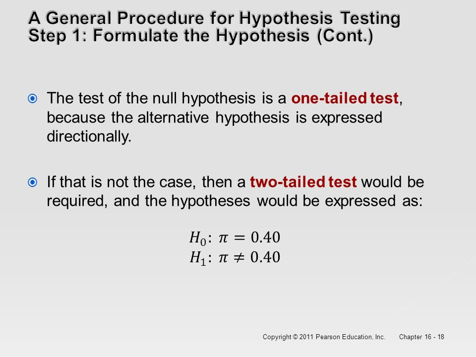 which hypothesis testing procedure would you use in the following situations Statistical hypothesis testing is a procedure of the normal z test can also be used on the following situations arise where we wish to test the.