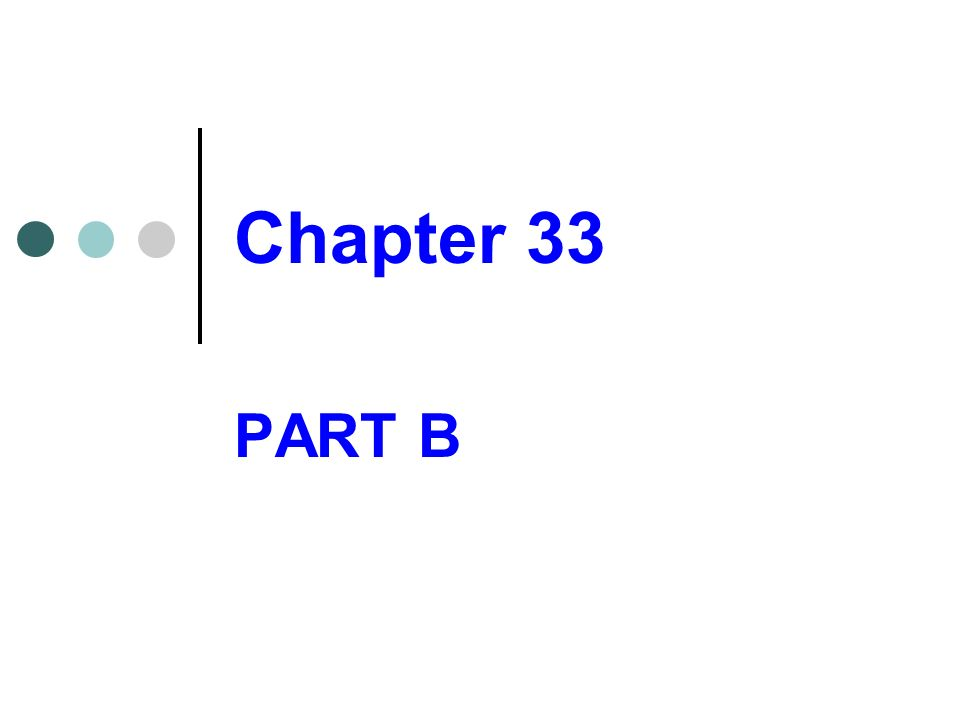 Chapter 33 PART B