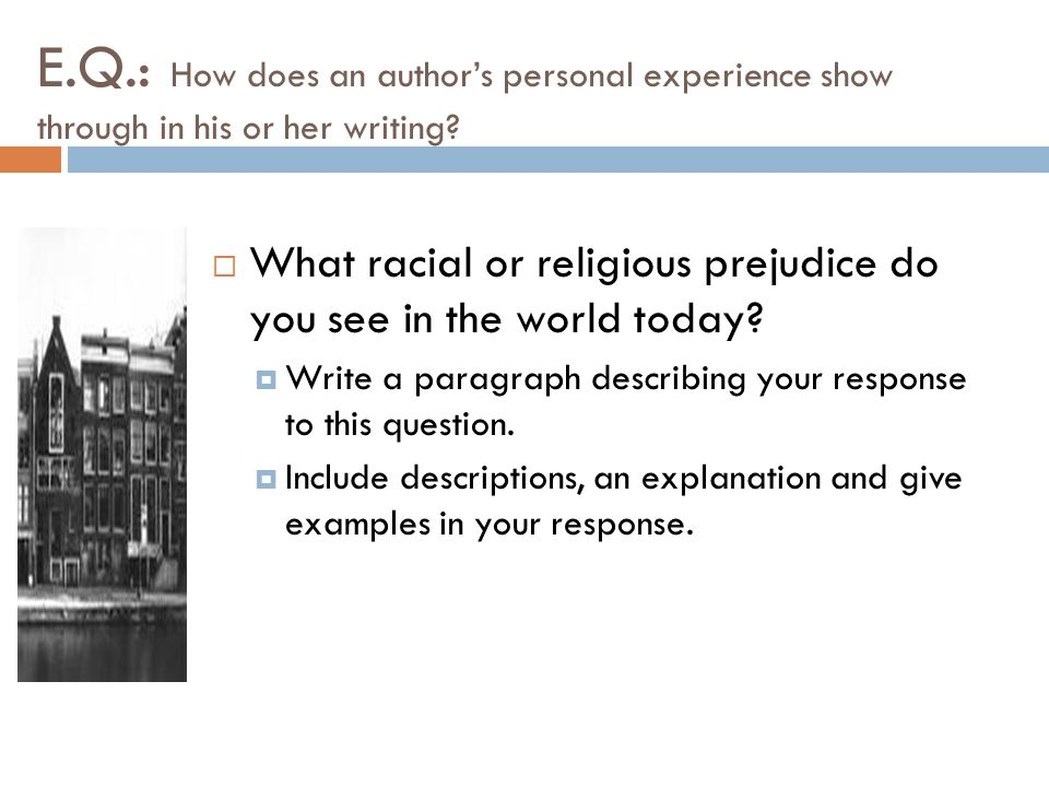 how to include when you write about your religious experience