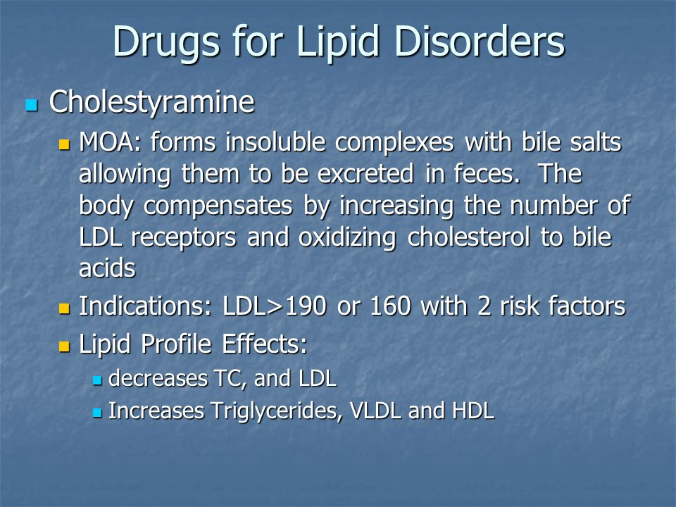 Drugs for Lipid Disorders