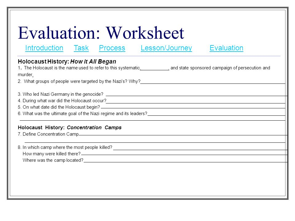 A Journey into the Night ppt video online download – Holocaust Worksheet