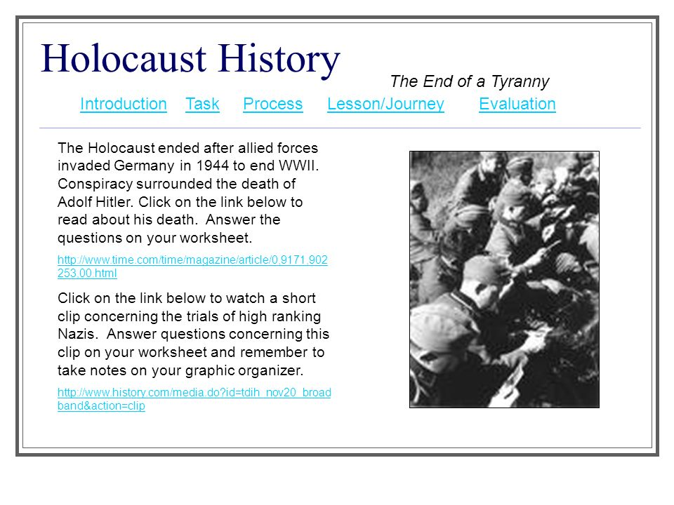 an introduction to the history of the holocaust Learn and revise about the holocaust, the genocide that came close to wiping  out the entire jewish population of europe with bbc bitesize ks3 history.